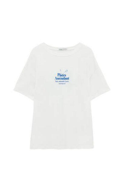 Oferta de Camiseta blanca texto contraste por 9,99€