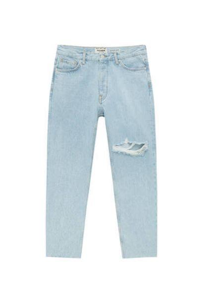 Oferta de Jeans standard fit rotos pernera por 29,99€