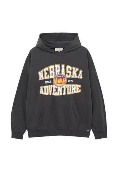 Oferta de Sudadera estilo college capucha por 25,99€