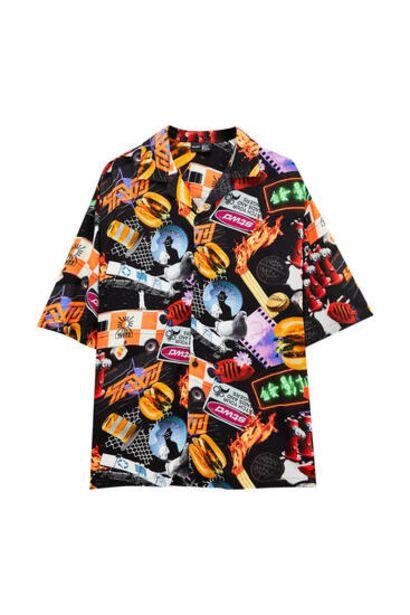 Oferta de Camisa estampada allover por 9,99€