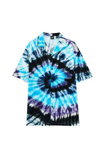 Oferta de Camisa tie-dye tonos azules por 9,99€