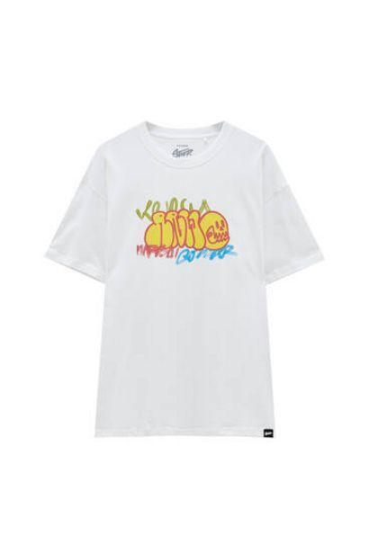 Oferta de Camiseta blanca print graffiti STWD por 5,99€