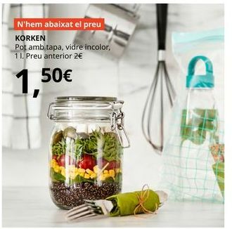 Oferta de Bote de cristal por 1,5€