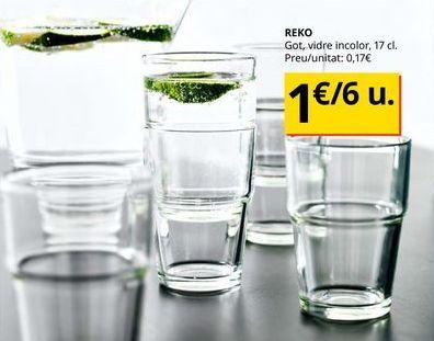 Oferta de Vasos por 1€