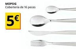 Oferta de Cubertería por 5€