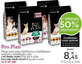 Oferta de Comida para perros Pro plan por 16,89€