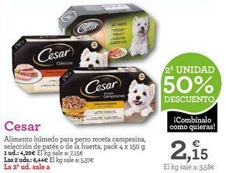 Oferta de Comida para perros Cesar por 4,29€