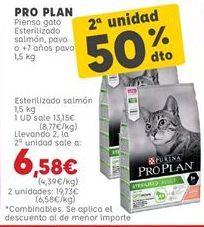 Oferta de Pienso para gatos Pro plan por 13,15€