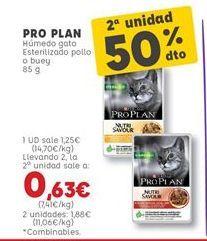 Oferta de Comida para gatos Pro plan por 1,25€