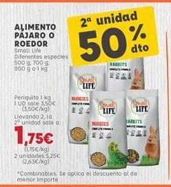 Oferta de Comida para animales por 3,5€