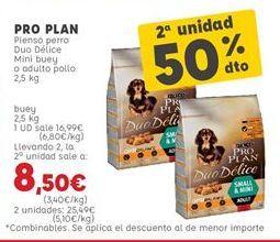Oferta de Pienso para perros Pro plan por 16,99€