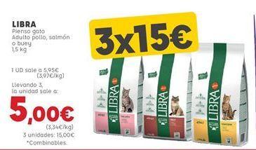 Oferta de Comida para gatos Libra por 5,95€