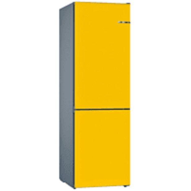 Oferta de Frigorífico combi - Bosch KVN39IF3A, 39 dB, No Frost, 366 l,  Amarillo por 1099€