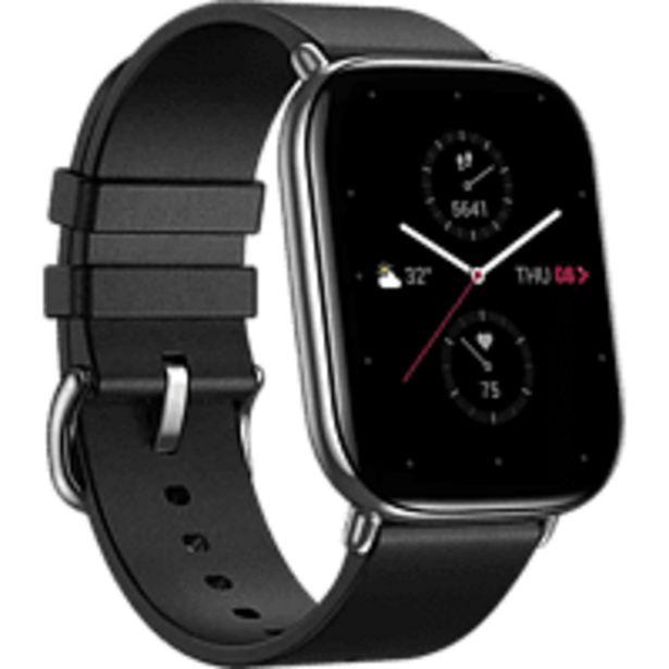 Oferta de Smartwatch - Amazfit Zepp E Square Cuero, 20mm, Acero inoxidable, 5 ATM, Negro por 159€