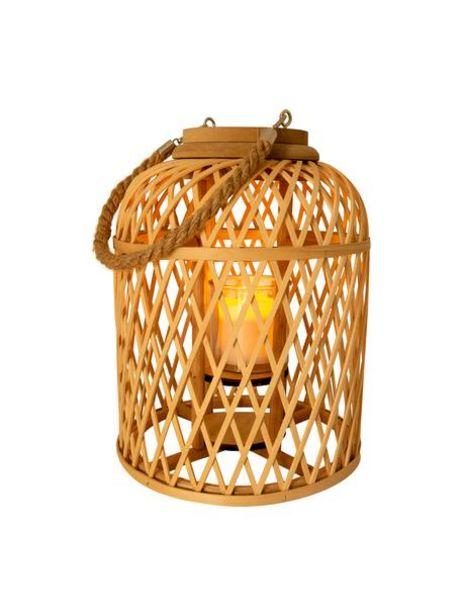 Oferta de Lámpara solar LED de bambú Korab por 54,99€