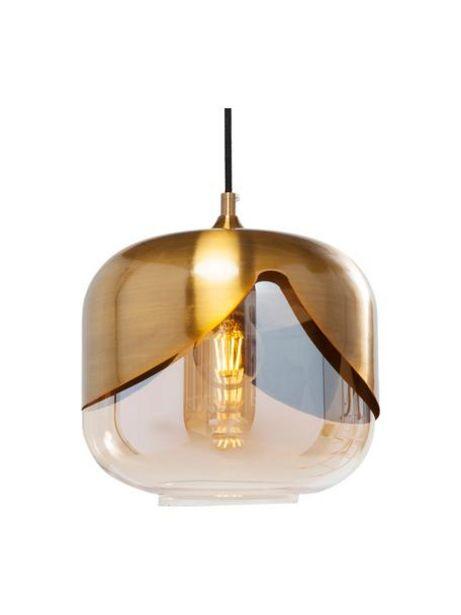 Oferta de Lámpara de techo pequeña de vidrio Golden Goblet por 97€