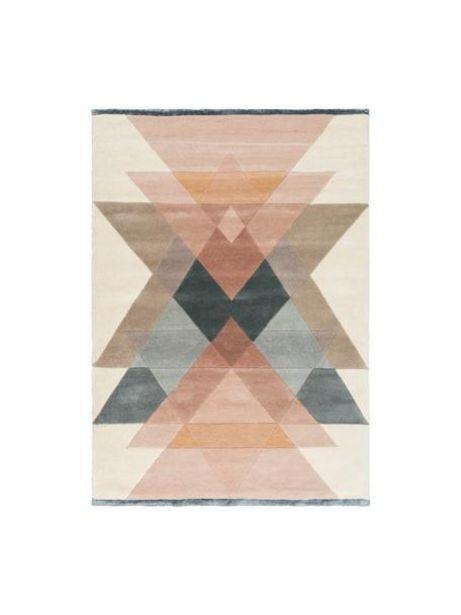 Oferta de Alfombra artesanal de lana de diseño Freya por 297€