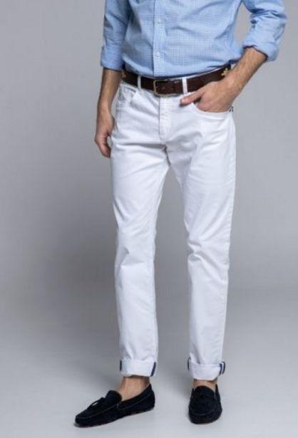 Oferta de Pantalón de hombre cinco bolsillos blanco por 35,94€