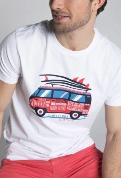 Oferta de Camiseta surf blanco por 14,94€