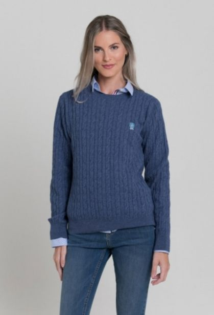 Oferta de Jersey ochos azul celeste de mujer por 49,5€