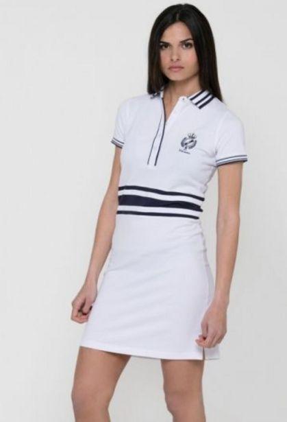 Oferta de Vestido escudo blanco de mujer por 47,92€