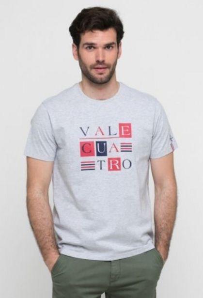 Oferta de Camiseta gráfica de hombre gris por 14,41€