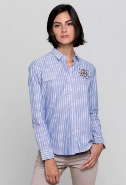 Oferta de Camisa rayas azul marino mujer por 45,37€