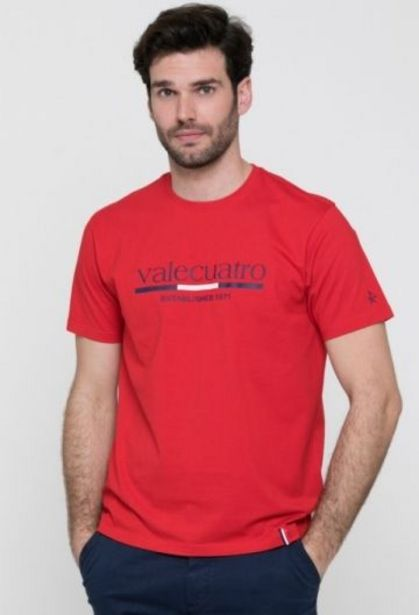 Oferta de Camiseta clásica Valecuatro rojo de hombre por 14,41€
