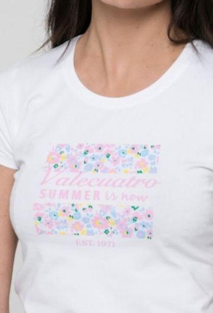 Oferta de Camiseta summer blanca de mujer por 14,41€