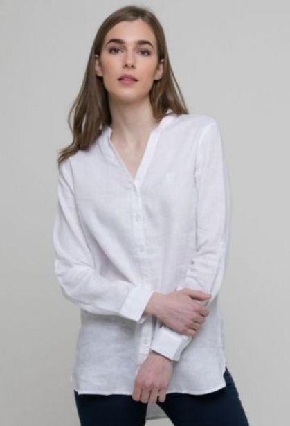 Oferta de Camisa de lino blanco de mujer por 47,92€