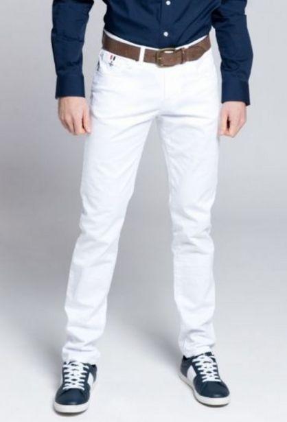 Oferta de Pantalón H Cinco Bolsillos Blanco por 35,94€