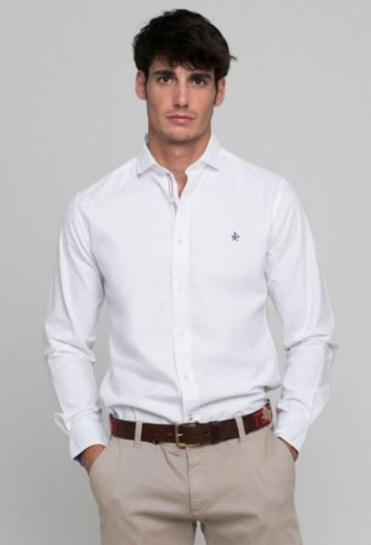 Oferta de Camisa sport blanco de hombre por 49,5€