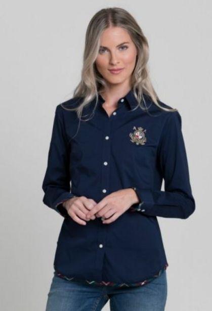 Oferta de Camisa escudo azul marino de mujer por 57,77€