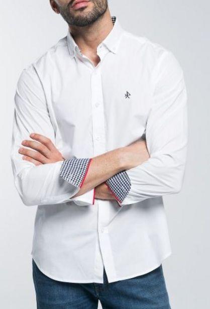 Oferta de Camisa Hombre Clásica Blanco por 29,94€