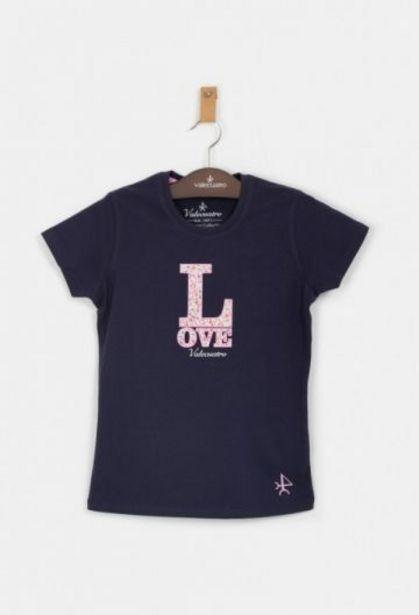 Oferta de Camiseta de niña Love azul por 13,25€