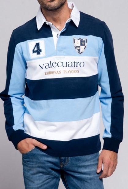 Oferta de Rugby Rayas azul marino y celeste de hombre por 40,44€