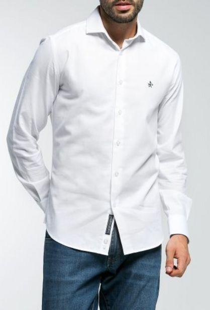 Oferta de Camisa Hombre Cuello Italiano Blanco por 29,94€