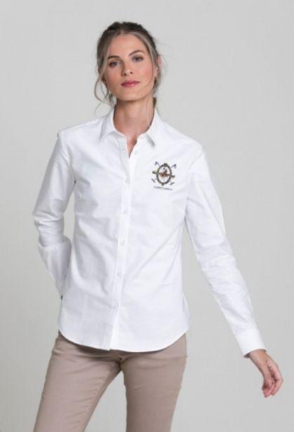 Oferta de Camisa escudo blanco de mujer por 57,77€