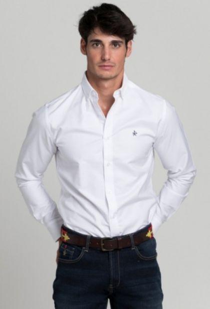 Oferta de Camisa clásica blanco de hombre por 47,85€