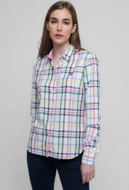 Oferta de Camisa tartán blanca de mujer multicolor por 31,76€