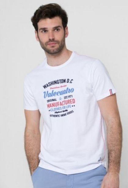 Oferta de Camiseta Washington blanco de hombre por 14,41€