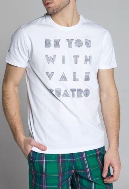 Oferta de Camiseta Be you blanco por 14,94€