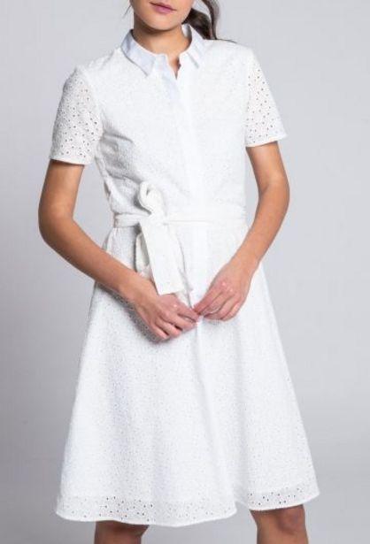 Oferta de Vestido Guipur Blanco por 41,94€