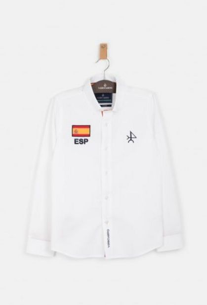 Oferta de Camisa de niño España blanca por 31,76€