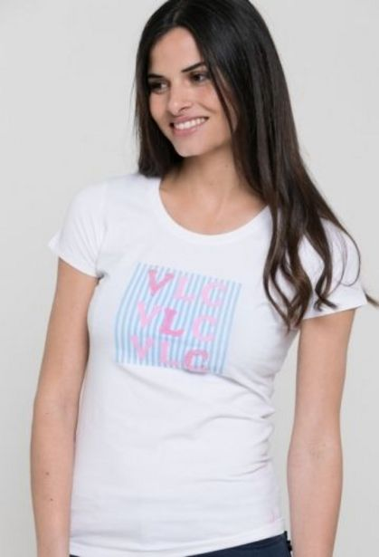 Oferta de Camiseta VLC blanco de mujer por 14,41€