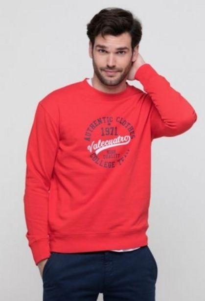 Oferta de Sudadera College team roja de hombre por 24,75€
