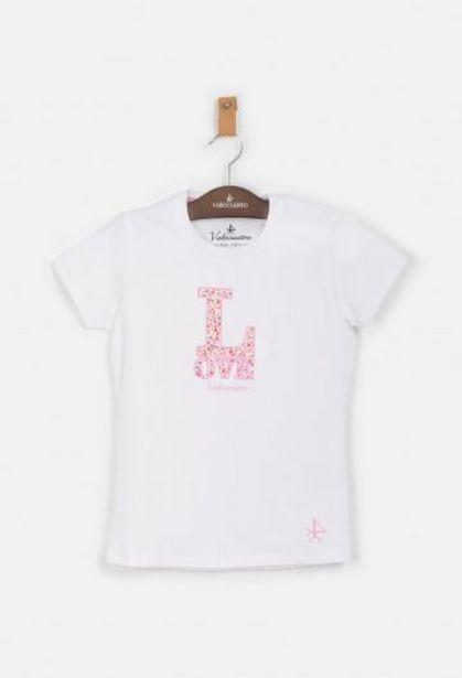 Oferta de Camiseta de niña Love blanca por 13,25€