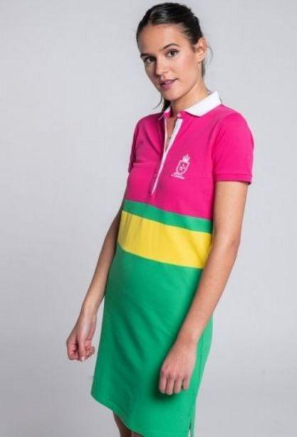 Oferta de Vestido TriColor Verde por 35,94€