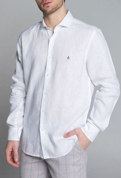 Oferta de Camisa lino blanco por 35,94€