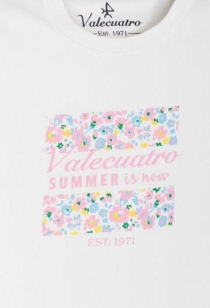 Oferta de Camiseta de niña summer blanca por 13,25€